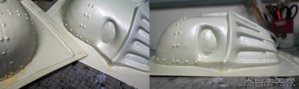 経年によりすっかり黄ばんだゼネプロ製キット。大日本工房にはこれらがあと16セット半あります(2015.04現在)
